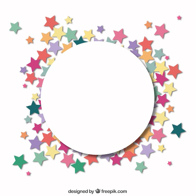 Circle with a frame of stars vector free download