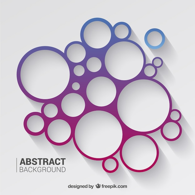 Circles background in purple and blue tones Vector   Free Download