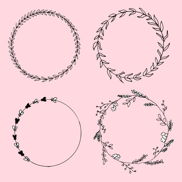 Circles black Free Vector