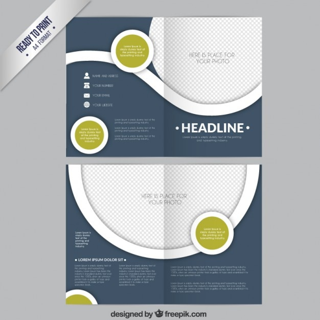 circle brochure template - circles brochure template vector free download