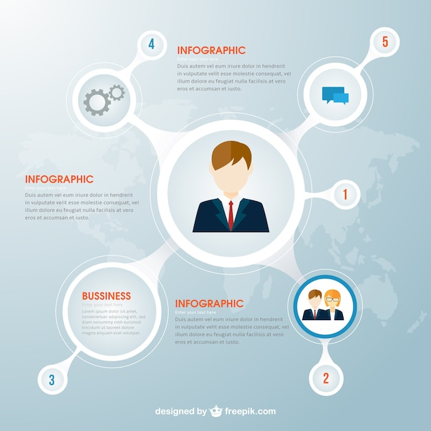 Circles business infographic Free Vector