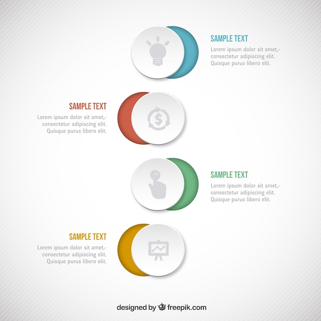 Circles infographic Free Vector