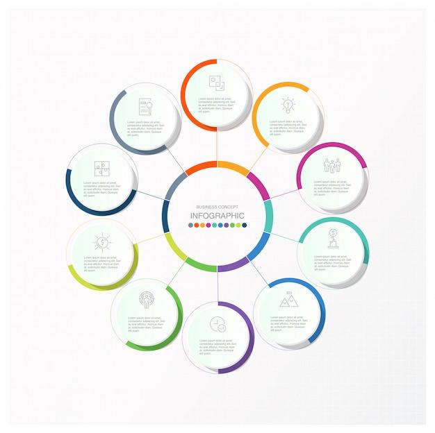 Circles infographics Premium Vector
