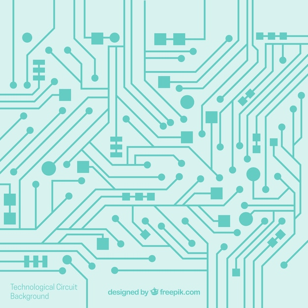 Circuit background in flat design Free Vector
