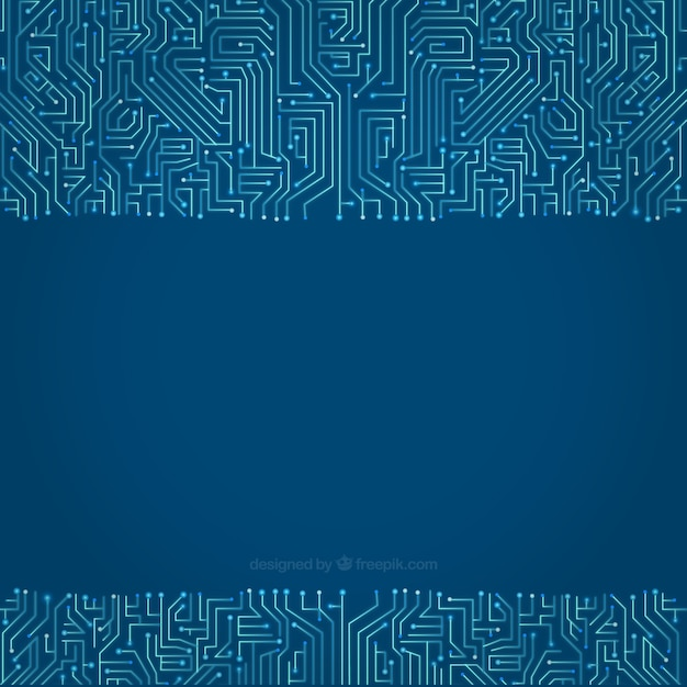 Circuit background in blue tones Vector | Free Download
