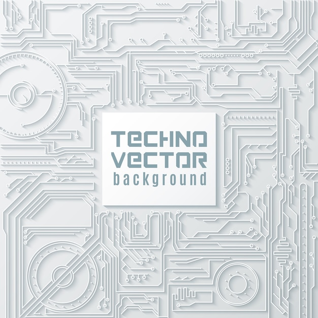 Circuit background Free Vector