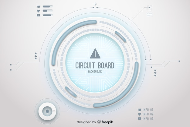 Circuit board background Free Vector