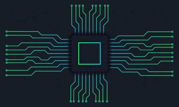 Circuit motherboard technology digital background Premium Vector