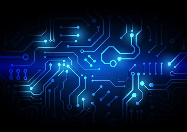 ハイテクデジタルデータ接続システムとコンピューターの電子設計による回路技術の背景 Premiumベクター