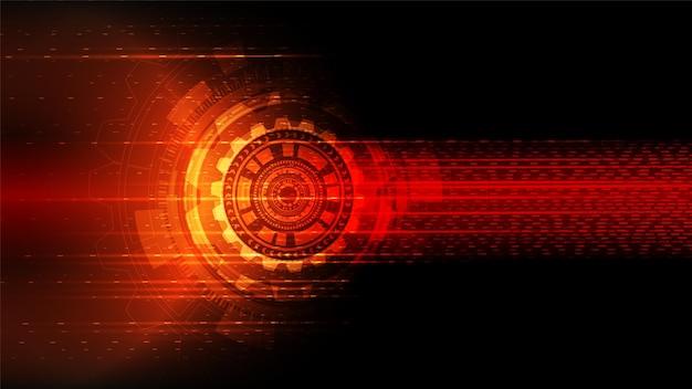 ハイテクデジタルデータ接続システムによる回路技術の背景 Premiumベクター
