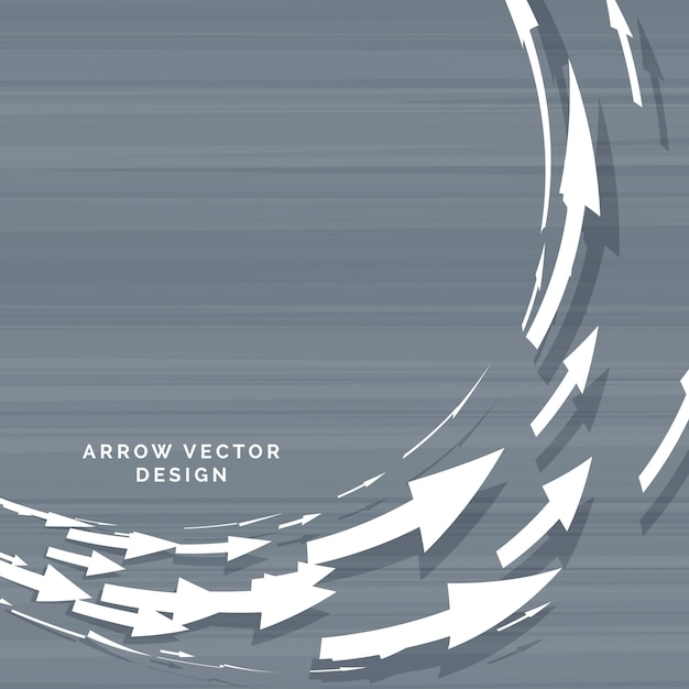 Circular arrow design Free Vector