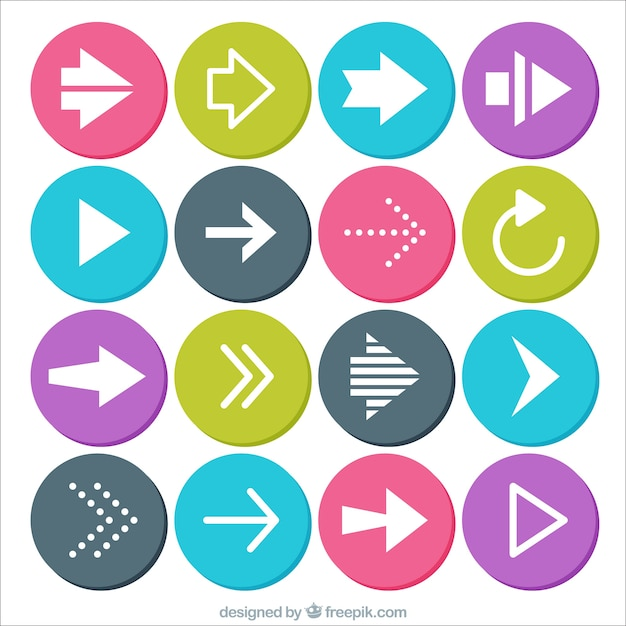 Circular arrows icons Free Vector