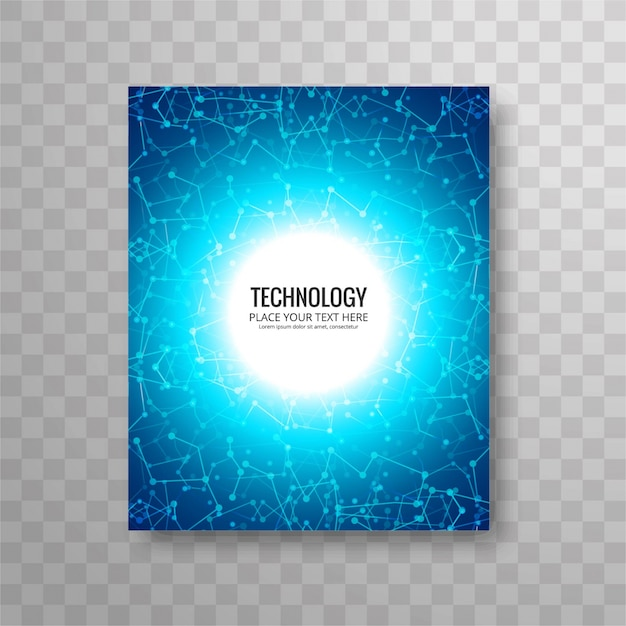 Circular Blue Business Flyer Template Vector  Free Download