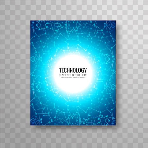 Circular blue business flyer template Vector – Azure Flyer Template