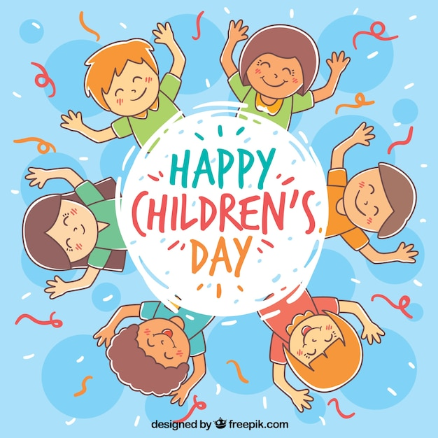 Circular childrens day design vector free download - Children s day images download ...