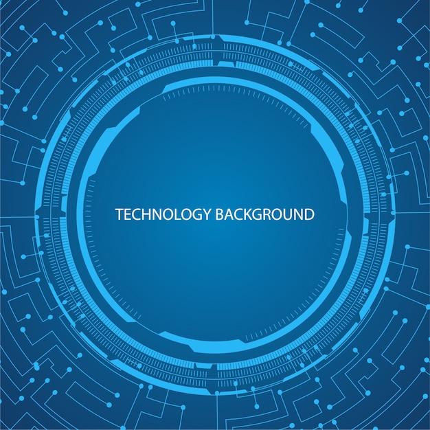 circular circuit board technology background vector premium download