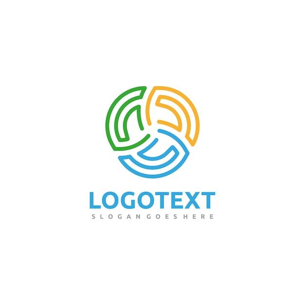 Circular colorful logo Free Vector