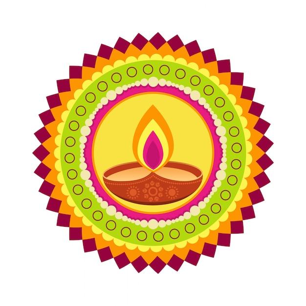 Circular Design For Diwali Festival