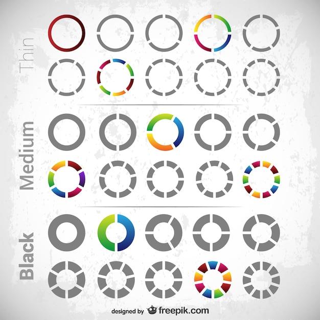 Circular diagrams pack Vector | Free Download