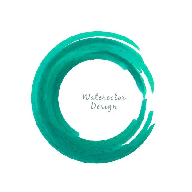 Circular green watercolor design background Free Vector