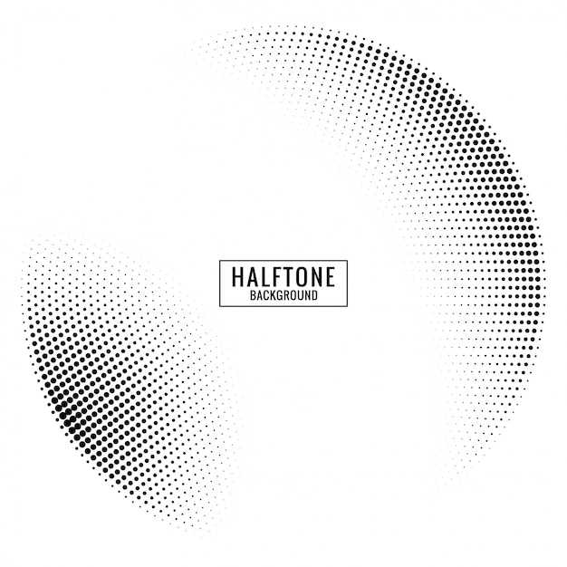 Circular halftone background Premium Vector