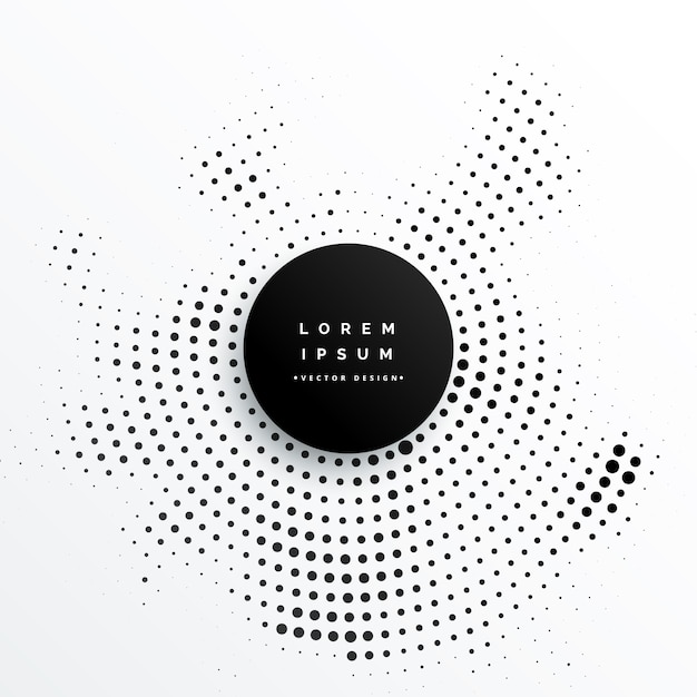 circular halftone dots background design Free Vector