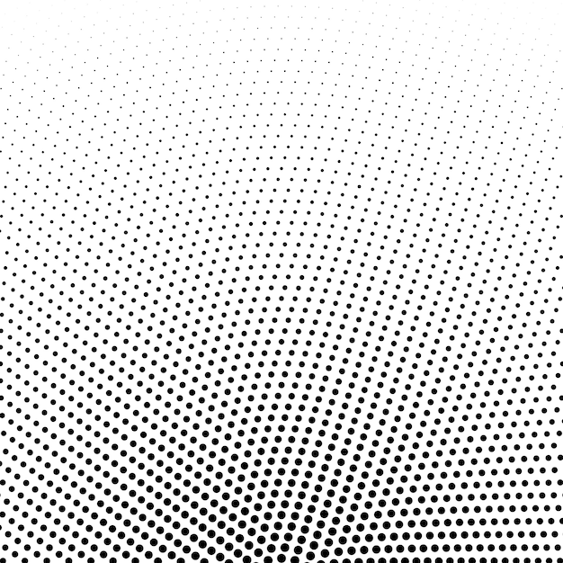 Circular halftone dots vector background Free Vector
