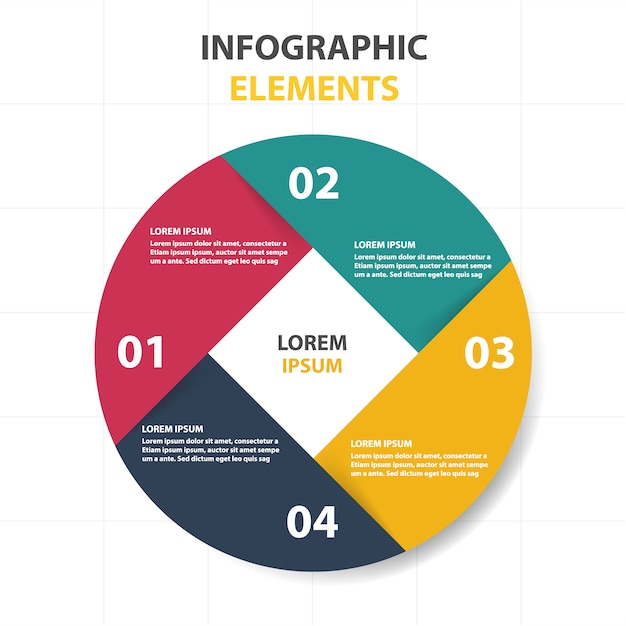 circular infographic template vector free download