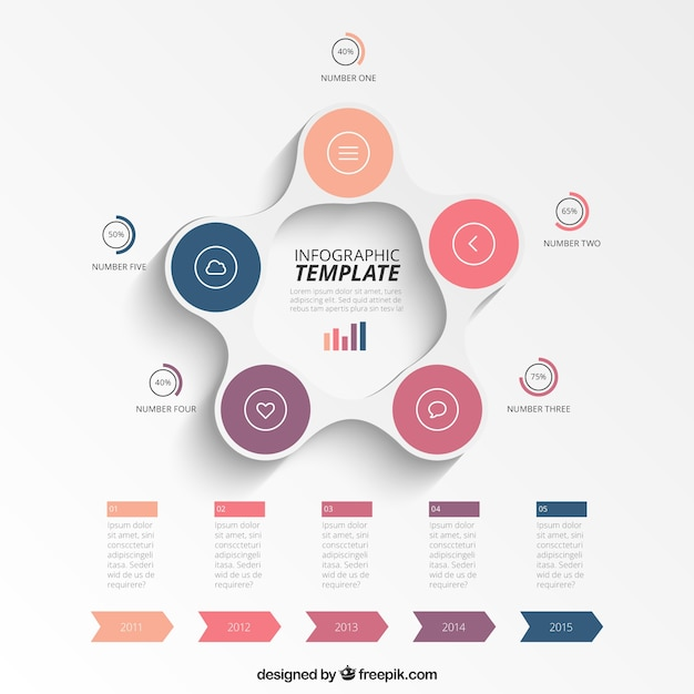 Circular infographic template Vector | Premium Download