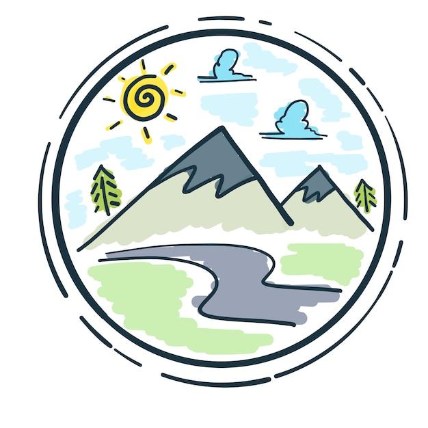 Circular mountain design