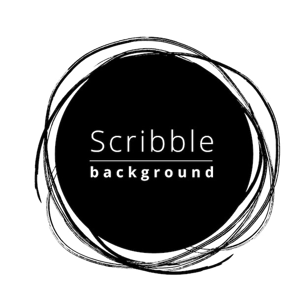 Circular scribble background Free Vector