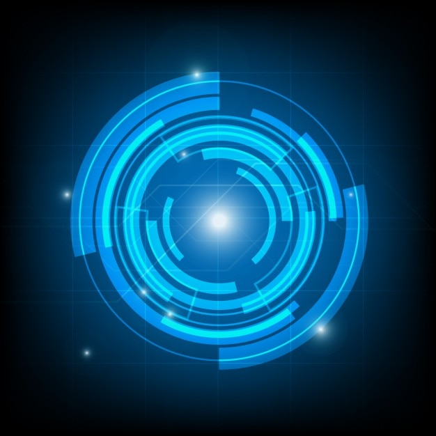 Circular technological background Free Vector