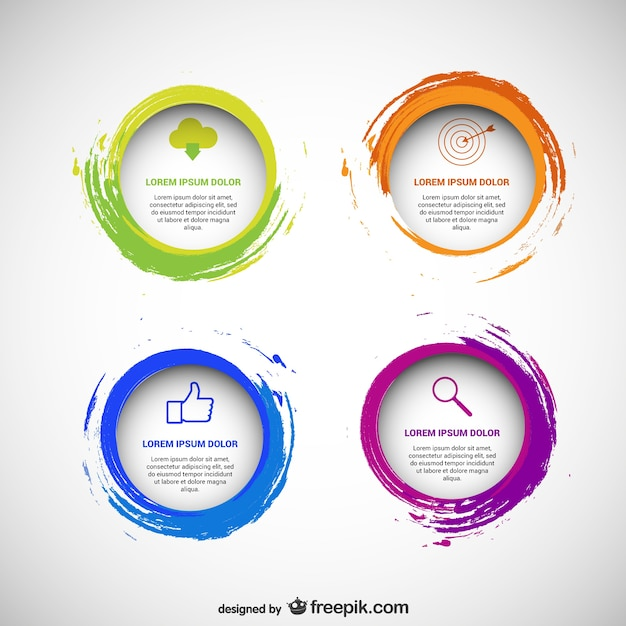 Circular templates pack Free Vector