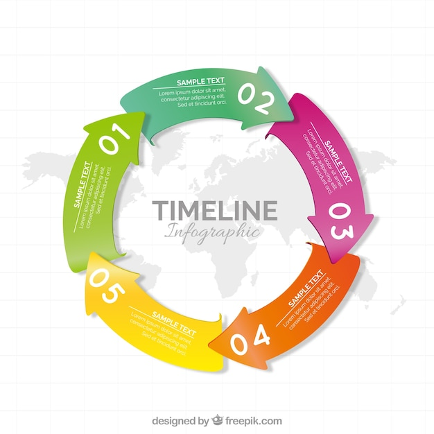 Circular timeline with colored arrows vector free download circular timeline with colored arrows free vector ccuart