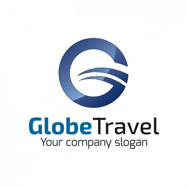 Circular Travel Agency Logo Vector | Free Download