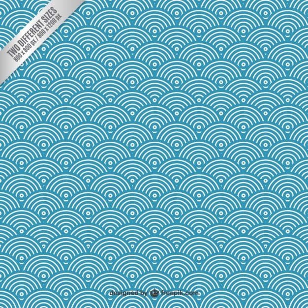 Circular Waves Background Vector Free Download Simple Wave Pattern
