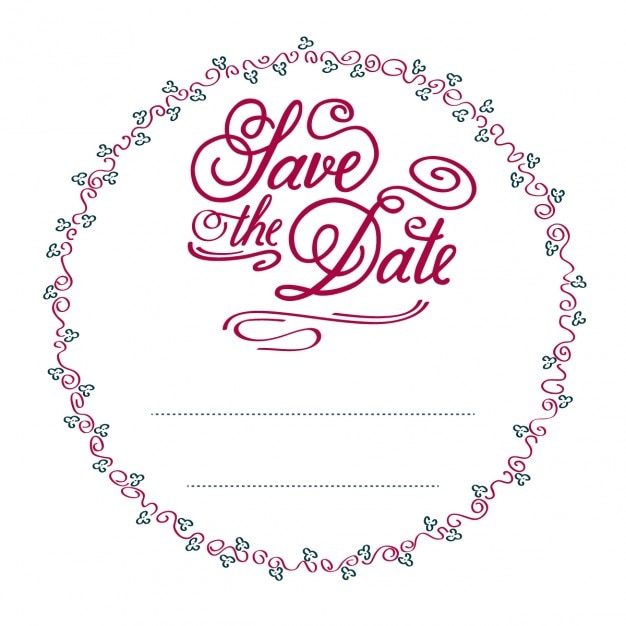 circular wedding invitation vector free download