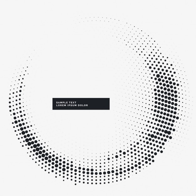 Circular white background with dots Free Vector