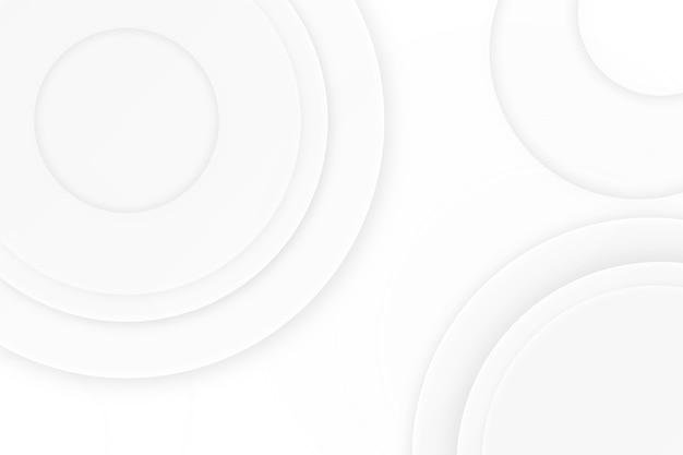 Circular white design texture background Premium Vector
