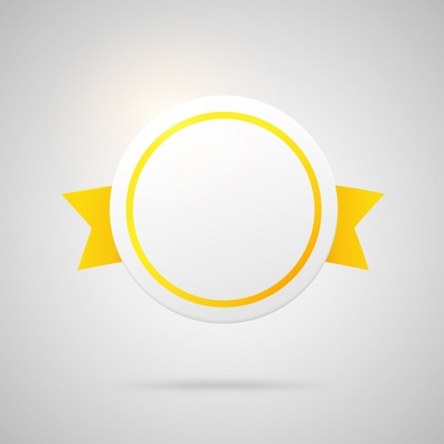 Circular yellow badge Free Vector