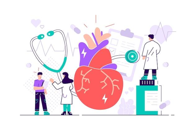 Circulatory system complications illustration Premium Vector