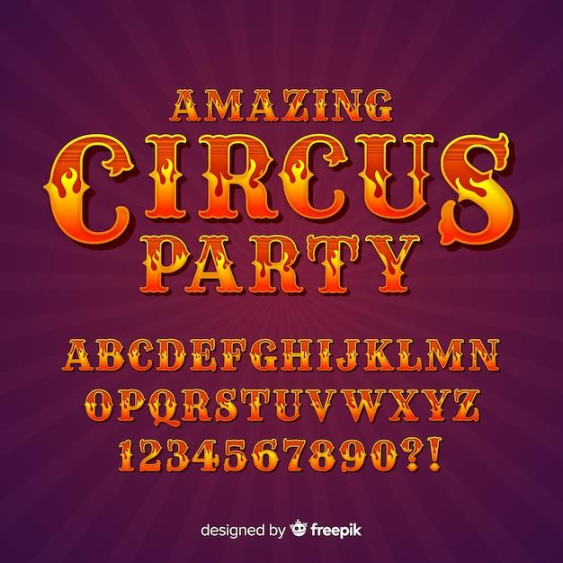 Circus alphabet Free Vector
