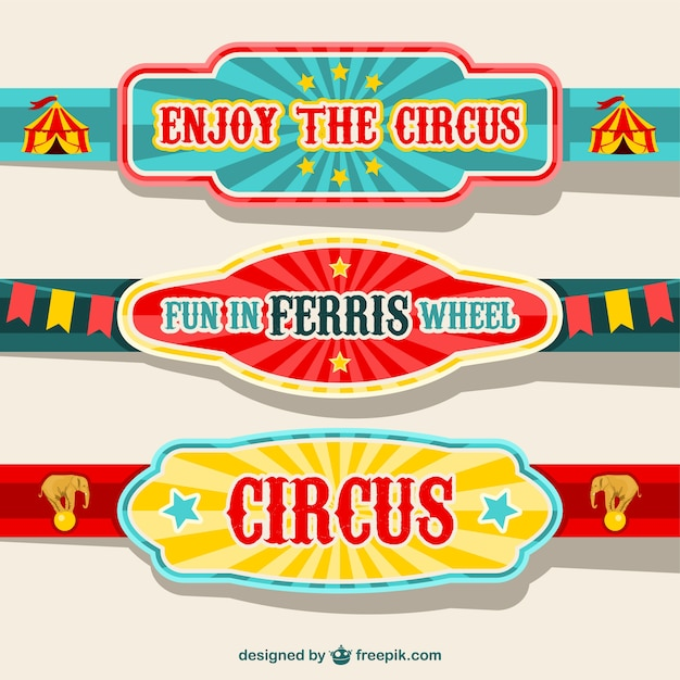 Circus banners design vector free download Blueprint designer free