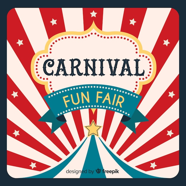 Circus carnival background Free Vector