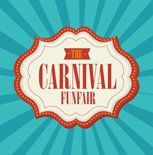 Circus carnival entertainment Premium Vector