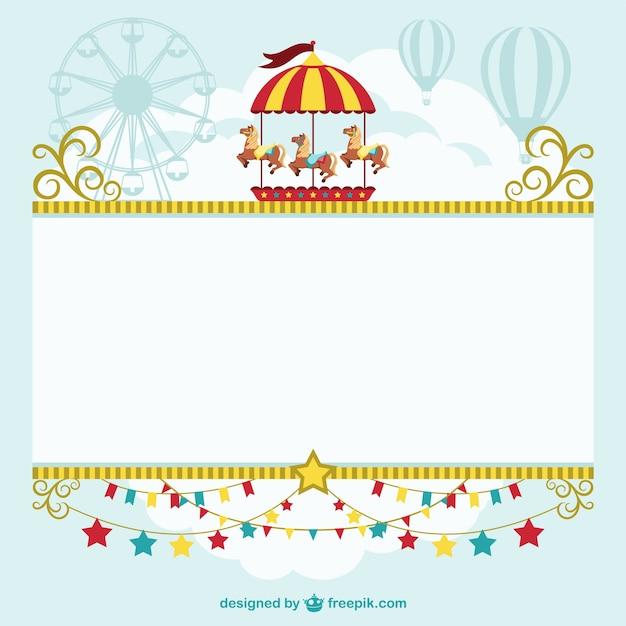 Circus modello di tenda free download Vettore gratuito