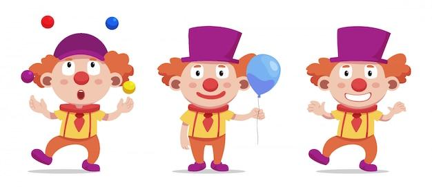Circus and clowns Premium Vector