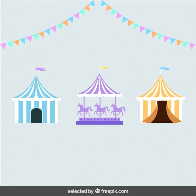 Circus elements Free Vector