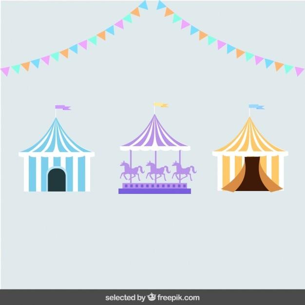 Elementi circo Vettore gratuito