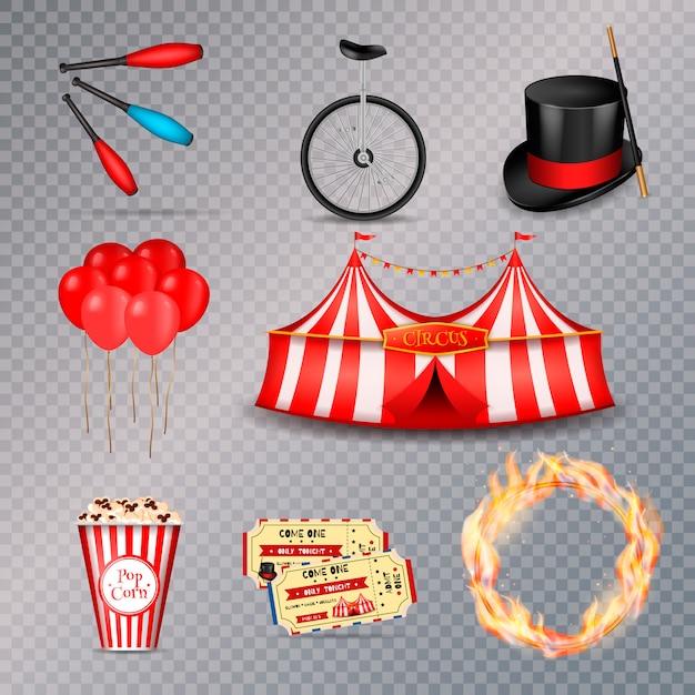 Circus essential elements set Free Vector